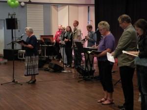 Tekstlæsning ved gudstjenesten i Harmonien