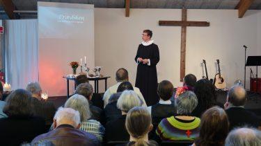 Jakob Damm Knudsen fra Gl. Haderslev Kirke holdt første del af prædiknen