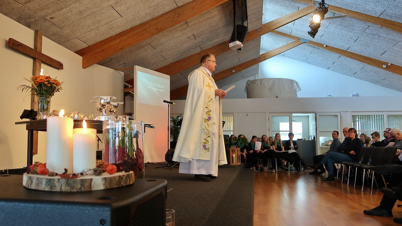 Gregers Mærsk-Kristensen holdt anden del af prædiknen