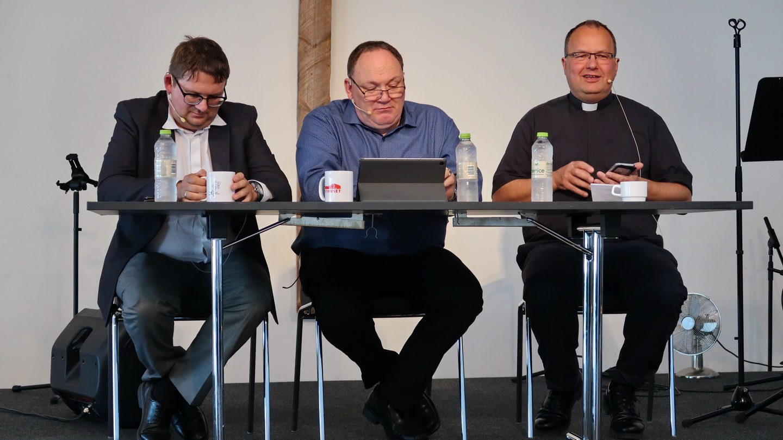 Kim Legarth, Raymond Marquard og Gregers Mærsk-Kristensen var panel